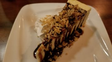Salted caramel cheesecake from Nami's Bar & Grill